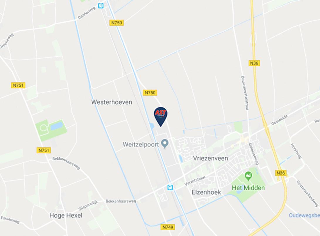 Maps afbeelding AST Vriezenveen